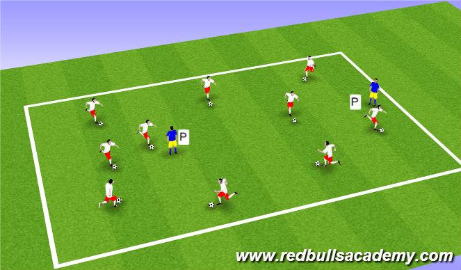 Football/Soccer Session Plan Drill (Colour): pinnie tag
