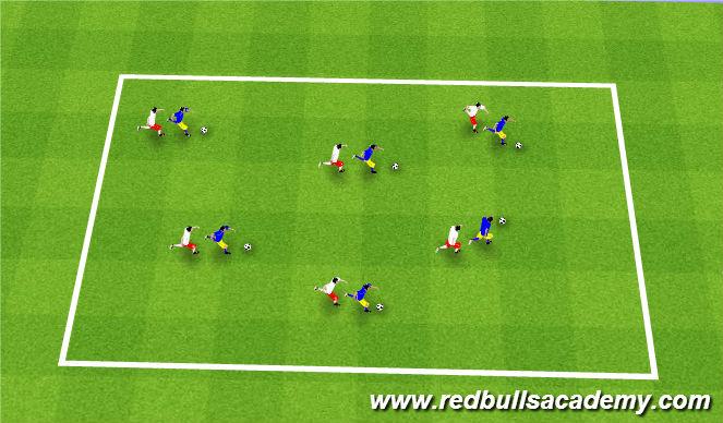 Football/Soccer Session Plan Drill (Colour): follow the leader/shadows