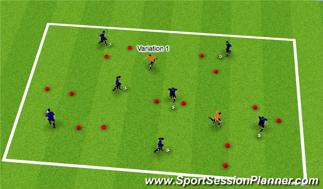 Football/Soccer Session Plan Drill (Colour): Dog Walking