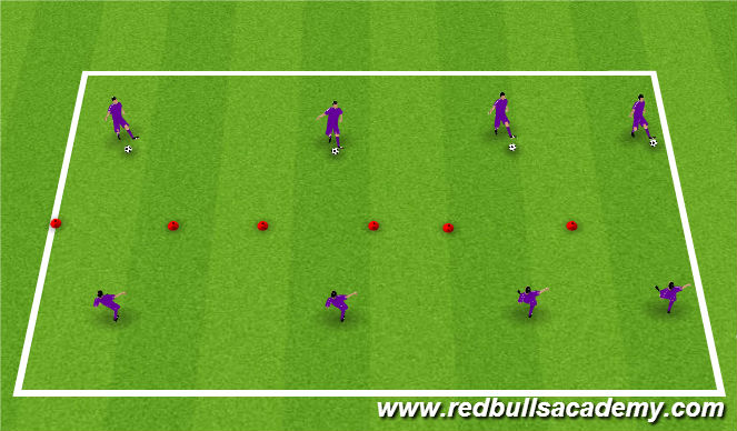 Football/Soccer Session Plan Drill (Colour): SAQ and Tecnical Warm Up