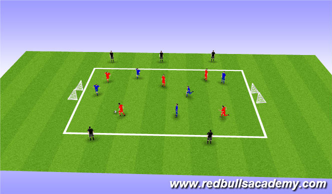 Football/Soccer Session Plan Drill (Colour): Conditioned Game: 5v5+5