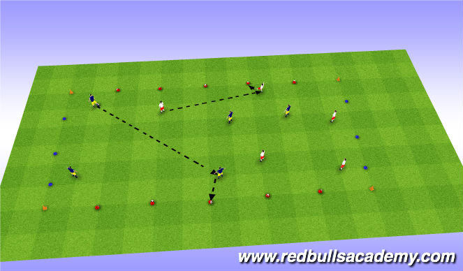 Football/Soccer Session Plan Drill (Colour): Conditioned Game-