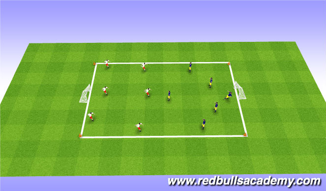 Football/Soccer Session Plan Drill (Colour): FreePlay-2