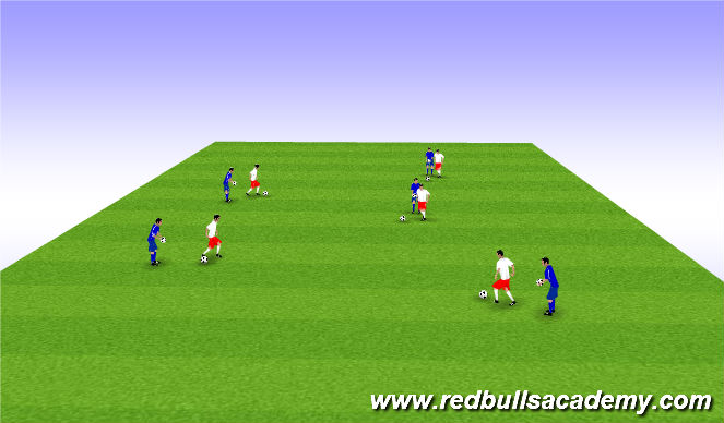 Football/Soccer Session Plan Drill (Colour): Turning Tag