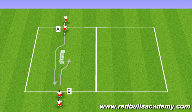 Football/Soccer Session Plan Drill (Colour): Skill Move - Brush