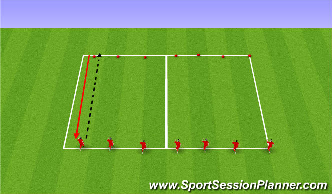 Football/Soccer Session Plan Drill (Colour): Anaerobic Power training