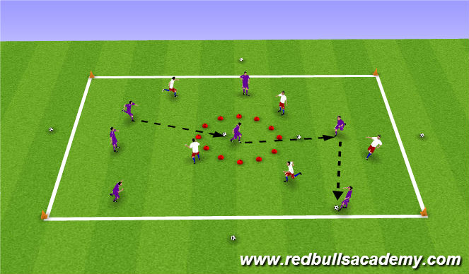 Football/Soccer Session Plan Drill (Colour): Overload game Part 2