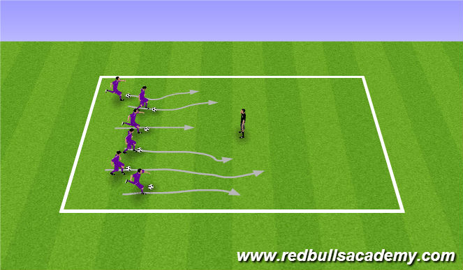 Football/Soccer Session Plan Drill (Colour): Bulldog