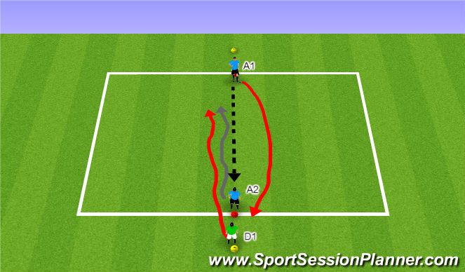 Football/Soccer Session Plan Drill (Colour): Activity I