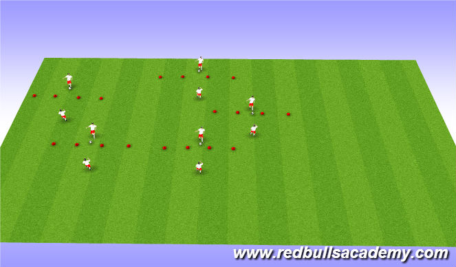 Football/Soccer Session Plan Drill (Colour): Main Theme 2: First touch game