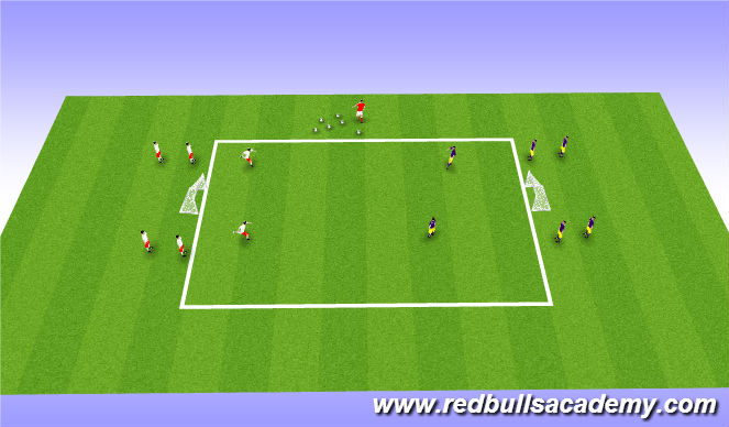 Football/Soccer Session Plan Drill (Colour): Main Activity: 2v2