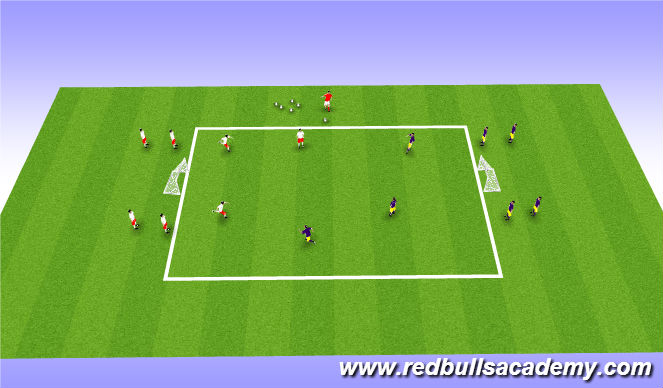 Football/Soccer Session Plan Drill (Colour): Main Activity: 3v3