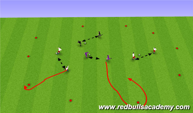Football/Soccer Session Plan Drill (Colour): check away passing