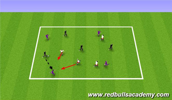 Football/Soccer Session Plan Drill (Colour): 3 team possesion