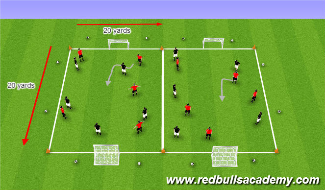 Football/Soccer Session Plan Drill (Colour): Free Play/Scrimmage