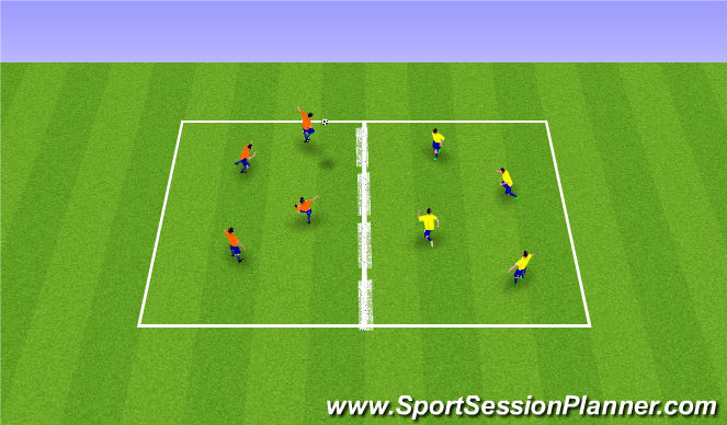 Football/Soccer Session Plan Drill (Colour): Skallatennis