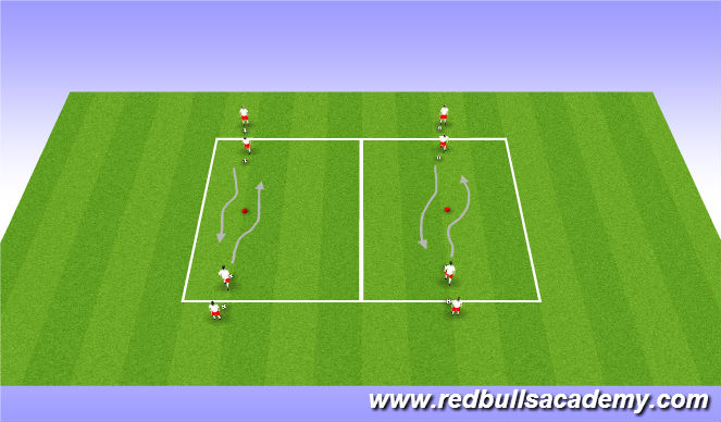 Football/Soccer Session Plan Drill (Colour): Main Theme: 1v1 (Unopposed)