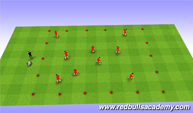 Football/Soccer Session Plan Drill (Colour): Warm-up 1