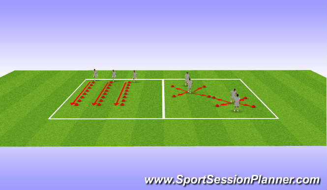 Football/Soccer Session Plan Drill (Colour): 23/10/2012 U16 Warm Up (Lunge and Multidirectional Speed