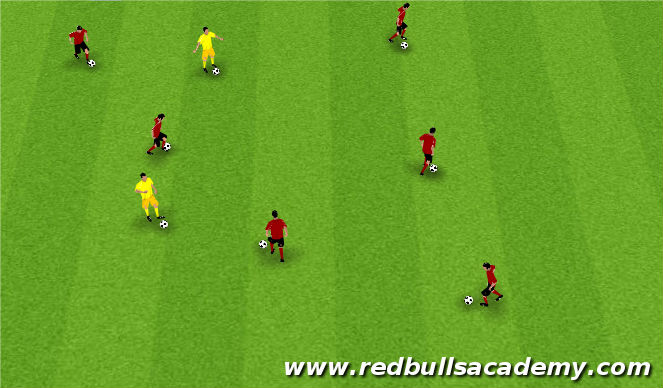 Football/Soccer Session Plan Drill (Colour): Warm Up  (20 min)