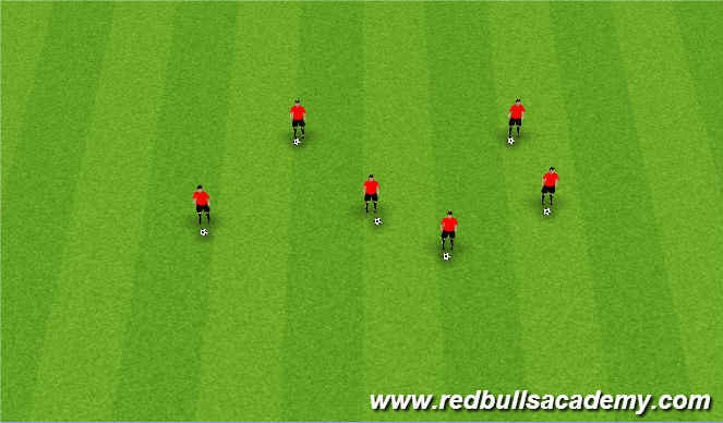 Football/Soccer Session Plan Drill (Colour): Ball Mastery/Prior to beginning of session