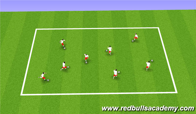 Football/Soccer Session Plan Drill (Colour): Arrival Warm Up