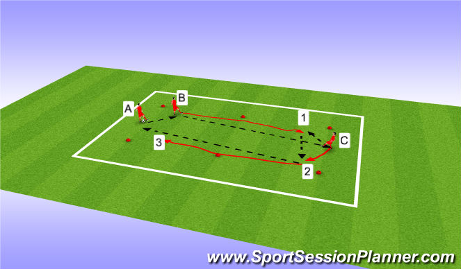 Football/Soccer Session Plan Drill (Colour): Long Passes / Short Passes