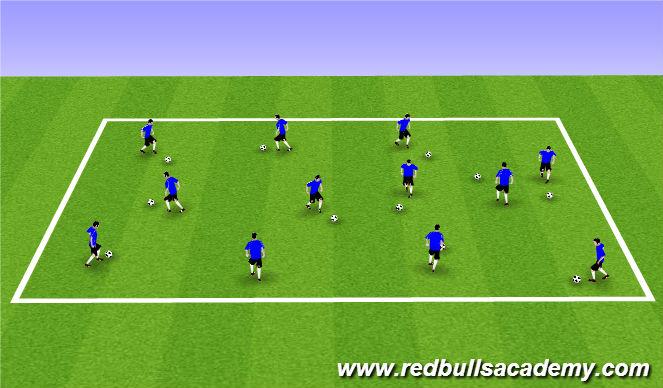 Football/Soccer Session Plan Drill (Colour): Main Theme 1