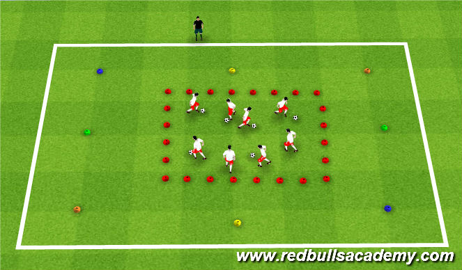 Football/Soccer Session Plan Drill (Colour): The Dribbling Game