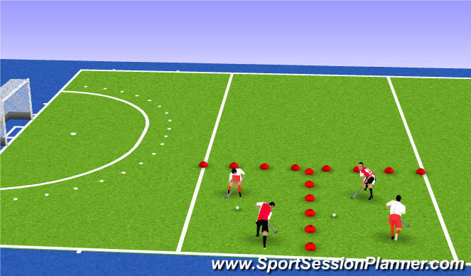 Hockey Session Plan Drill (Colour): Mała gra