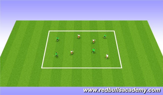 Football/Soccer Session Plan Drill (Colour): Warm Up: Motor Control