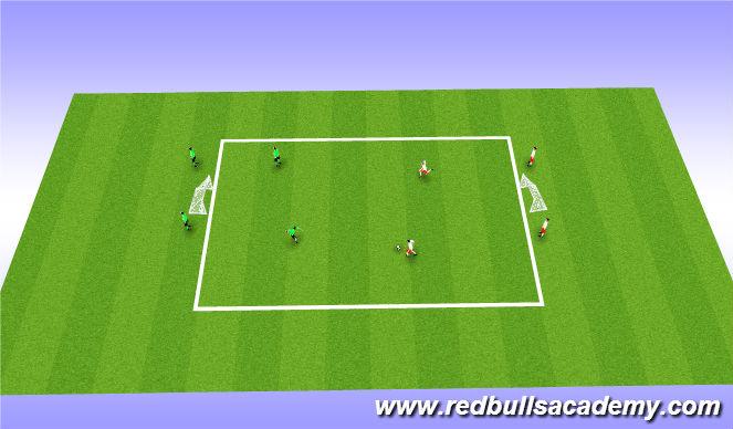 Football/Soccer Session Plan Drill (Colour): Main Theme: 2v2 (Fully Opposed)