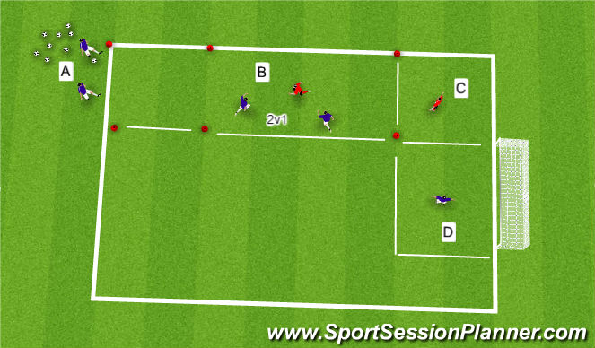 Football/Soccer Session Plan Drill (Colour): Breaking the line . .
