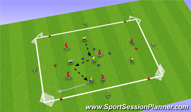 Football/Soccer Session Plan Drill (Colour): SSG II - In & Out
