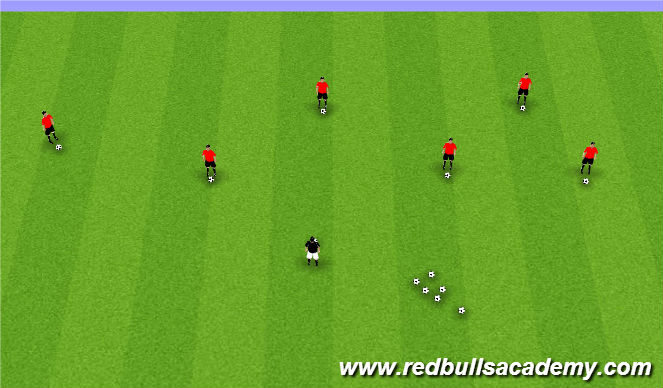 Football/Soccer Session Plan Drill (Colour): Ball Mastery/Prior to the beginning of session