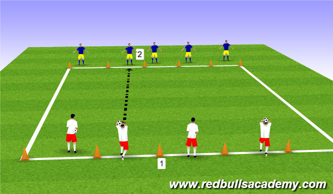 Football/Soccer Session Plan Drill (Colour): Receivin Air WP