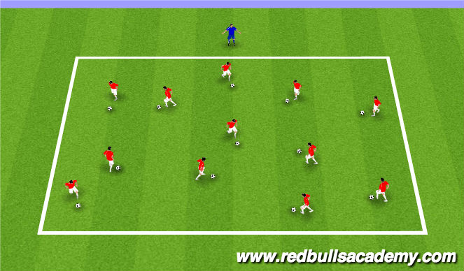 Football/Soccer Session Plan Drill (Colour): Red Light/ Green Light