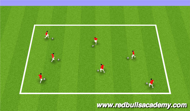 Football/Soccer Session Plan Drill (Colour): 1000 Touch Game