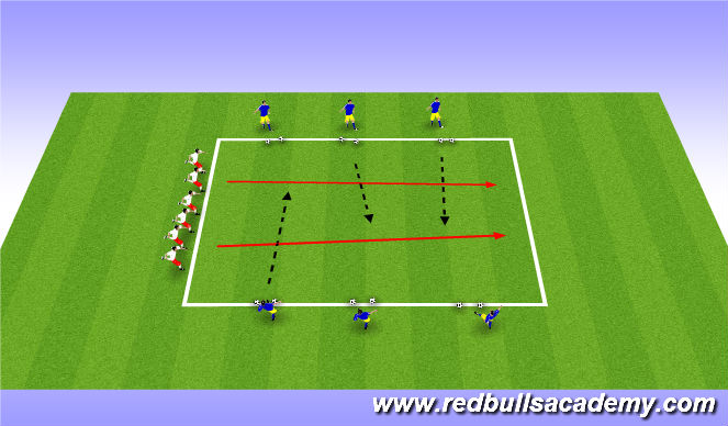 Football/Soccer Session Plan Drill (Colour): Army - Main theme