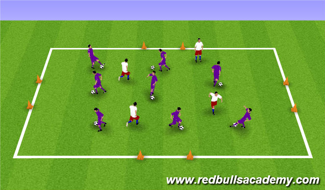 Football/Soccer Session Plan Drill (Colour): Tackling in Game situation