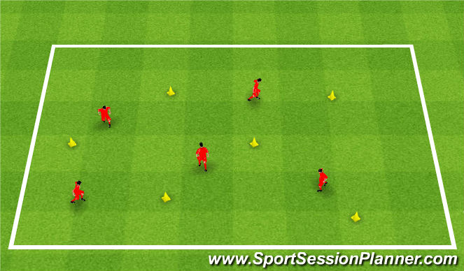 Football/Soccer Session Plan Drill (Colour): Surfs Up