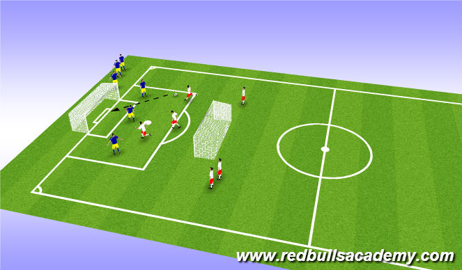 Football/Soccer Session Plan Drill (Colour): QuickStrike