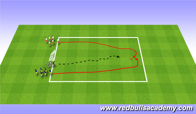 Football/Soccer Session Plan Drill (Colour): Main Theme - Golden Goal