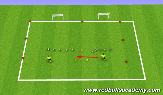 Football/Soccer Session Plan Drill (Colour): skills chalenge
