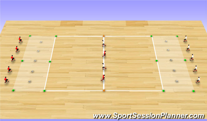 Futsal Session Plan Drill (Colour): Technical Exercise