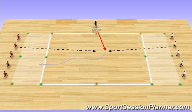 Futsal Session Plan Drill (Colour): Tactical Exercise