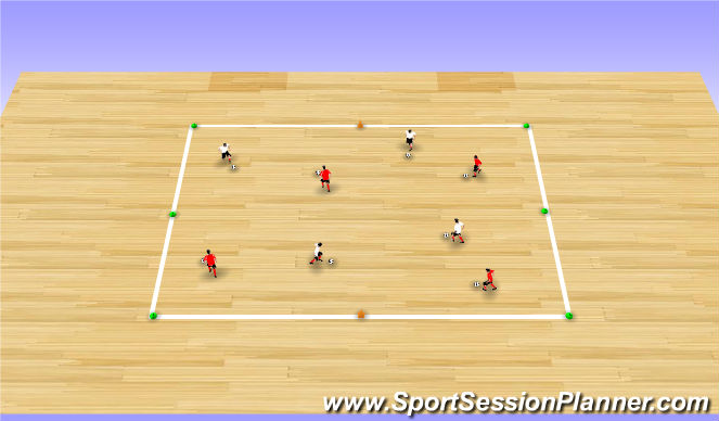Futsal Session Plan Drill (Colour): Warm-up
