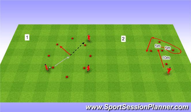 Football/Soccer Session Plan Drill (Colour): Warm up. Rozgrzewka