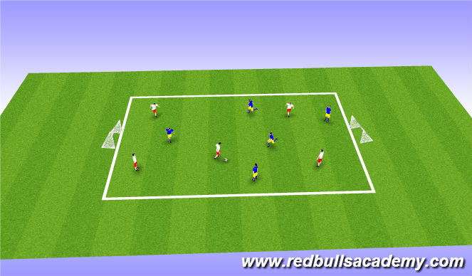 Football/Soccer Session Plan Drill (Colour): Free Play: 5v5