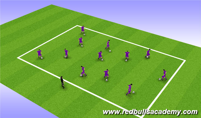 Football/Soccer Session Plan Drill (Colour): All Aboard Bucky!